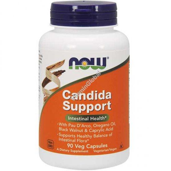 קנדידה סופורט לטיפול בזיהום פטריית קנדידה 90 כמוסות צמחיות - נאו פודס