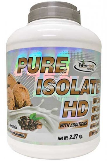 """חלבון פיור אייזולייט HD כשר בטעם קפה 2.27 ק""""ג - פאוורטק"""