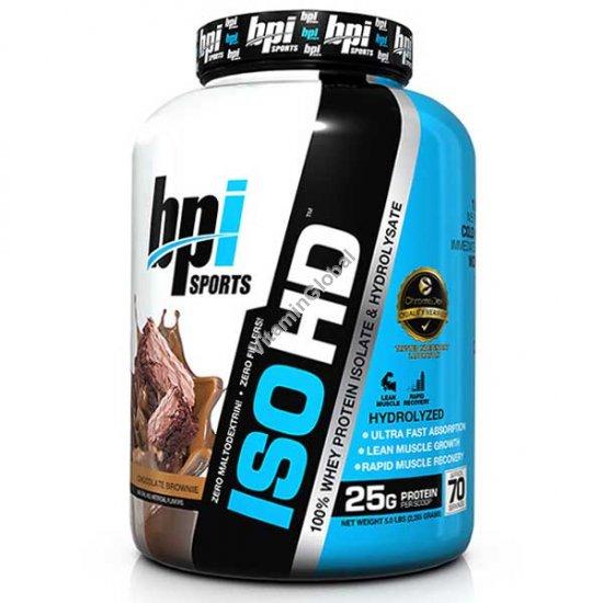 """איזו HD - חלבון אייזולט וגם היידרולייזד בטעם בראוניס שוקולד 2.277 ק""""ג - בי פי איי"""