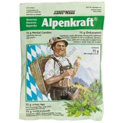 סוכריות קשות עם צמחים אלפנקרפט למניעה והקלה של כאבי גרון 75 גרם - סלוס