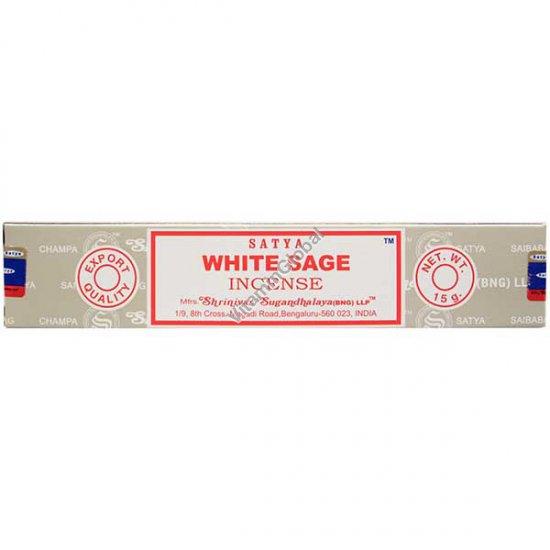 קטורת הודית טבעית מרווה לבנה 15 גרם - סאטיה
