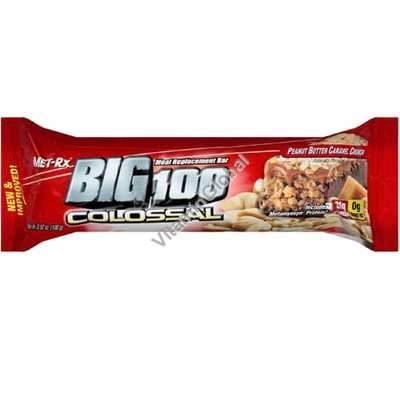 חטיף חלבון ביג 100 קולוסל בוטנים מצופה קרמל 100 גרם - מט-ריקס