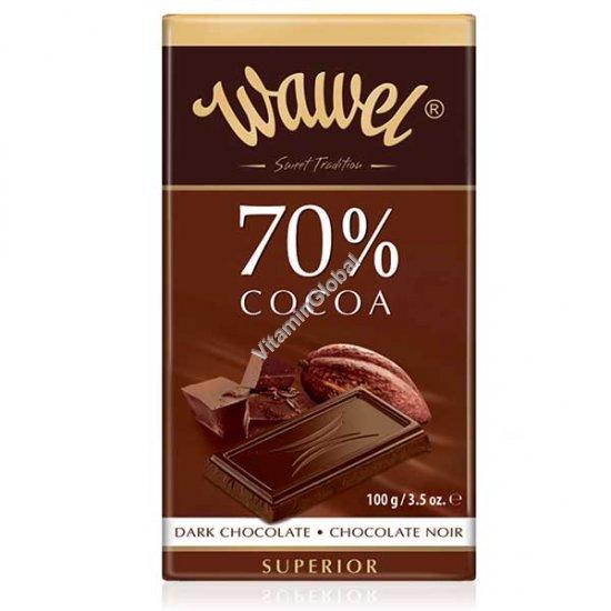 שוקולד מריר 70% קקאו 100 גרם - וואוול