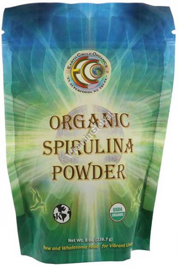 אבקת ספירולינה אורגנית 226 גרם - Earth Circle Organics