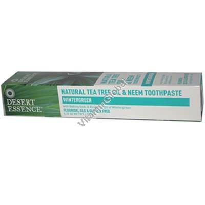 משחת שיניים טבעית עם שמן עץ התה ושמן נים 176 גרם - דסרט אסאנס