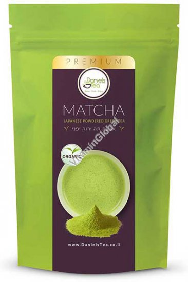 מאצ\'ה - אבקת תה ירוק יפני אורגנית 50 גרם - דניאלס תה