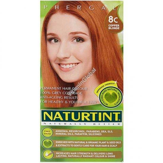צבע לשיער גוון בלונד נחושת 8C - נטורטינט