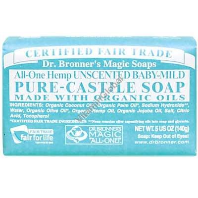 """סבון טבעי אמיתי לתינוקות 140 גרם - ד""""ר ברונר"""