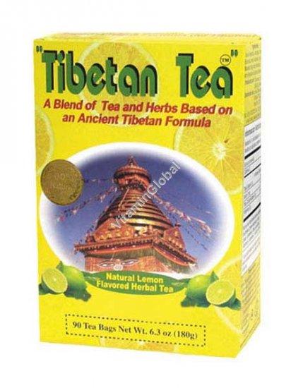 תה טיבטי בטעם לימון 90 שקיקים - סודות המזרח