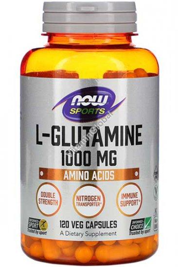 """ל-גלוטמין 1000 מ""""ג 120 כמוסות - נאו פודס"""
