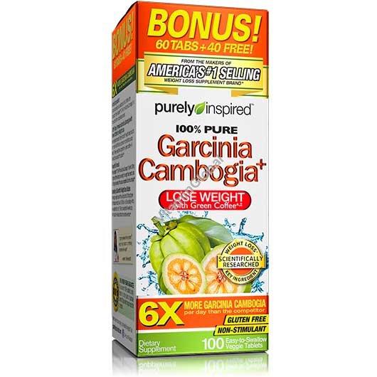 גרסיניה קמבוג\'יה בתוספת תמצית קפה ירוק 100 טבליות - Purely Inspired