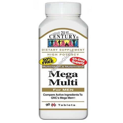 מולטי ויטמין לגברים מגה מולטי 90 טבליות - 21 סנצ\'ורי