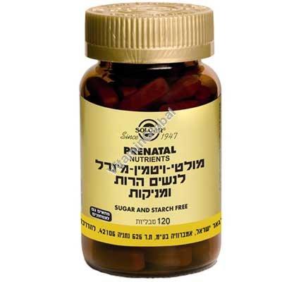 פרנטל מולטי-ויטמין לנשים הרות ומניקות 120 טבליות - סולגאר