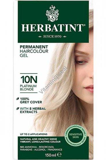 צבע לשיער גוון בלונד פלטינה (10N) - הרבטינט