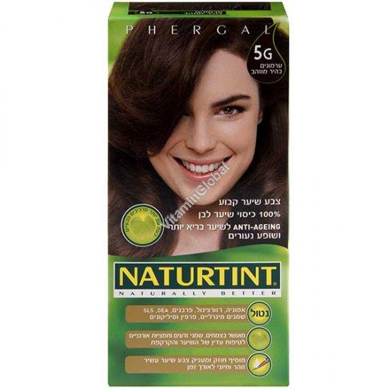 צבע לשיער גוון ערמונים בהיר מוזהב 5G - נטורטינט