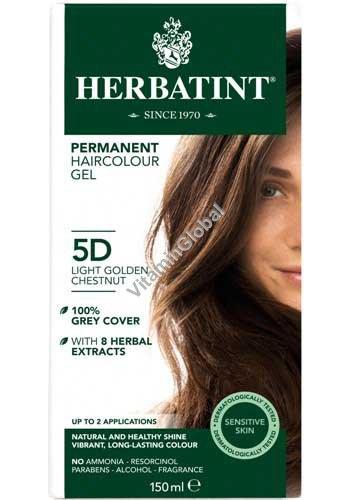 צבע לשיער ערמוני מוזהב בהיר 5D - הרבטינט