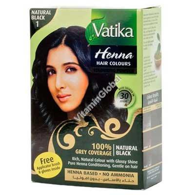 """חינה לשיער גוון שחור טבעי 60 גרם (6 שק\' של 10 גרם כ""""א) - וטיקה"""