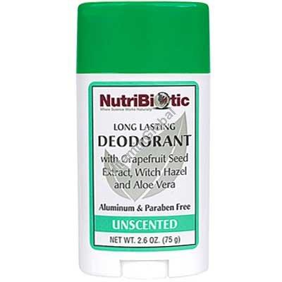 דאודורנט סטיק ללא ריח עם תמצית זרעי אשכוליות 75 גרם - נוטריביוטיק