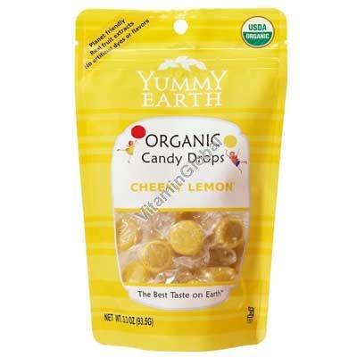 סוכריות קשות אורגניות בטעם לימון 93.5 גרם - יוממי