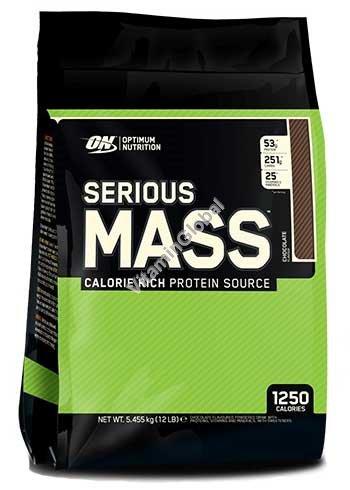 """אבקה לעליה במשקל סיריוס מאס בטעם שוקולד 5.455 ק""""ג - אופטימום נוטרישן"""