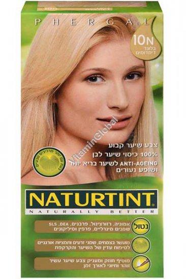 צבע שיער קבוע, גוון בלונד דימדומים (10N) - נטורטינט