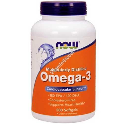 שמן דגים אומגה 3 - חומצות שומן חיוניות 200 כמוסות רכות - נאו פודס