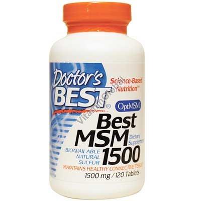 """בסט MSM לשיכוך ולהקלה של כאבים 1500 מ""""ג 120 טבליות - דוקטורס בסט"""
