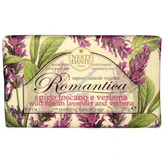 סבון טבעי רומנטיקה בניחוח לבנדר וורבנה 250 גרם - נסטי דנטה