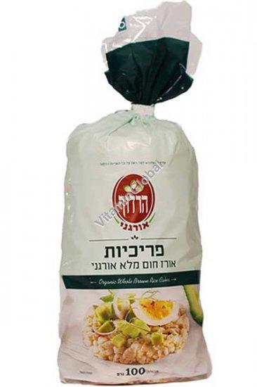 פריכיות אורז חום אורגני 100 גרם - הרדוף
