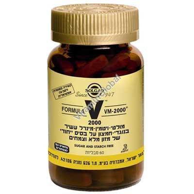 VM-2000 מולטי-ויטמין 60 טבליות - סולגאר