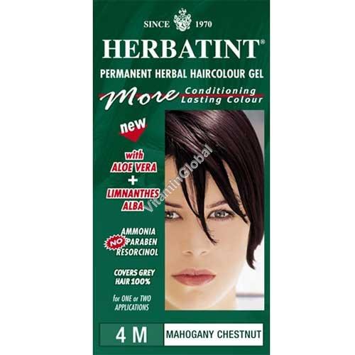צבע לשיער גוון מהגוני ערמוני 4M - הרבטינט