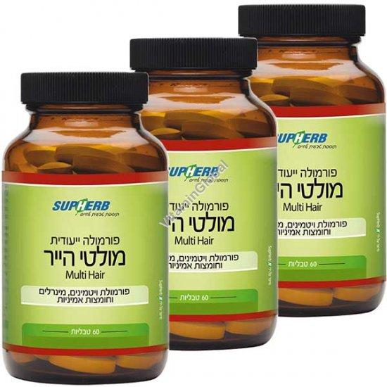 מולטי הייר לטיפול ומניעת נשירת שיער 180 (60+60+60) טבליות - סופהרב