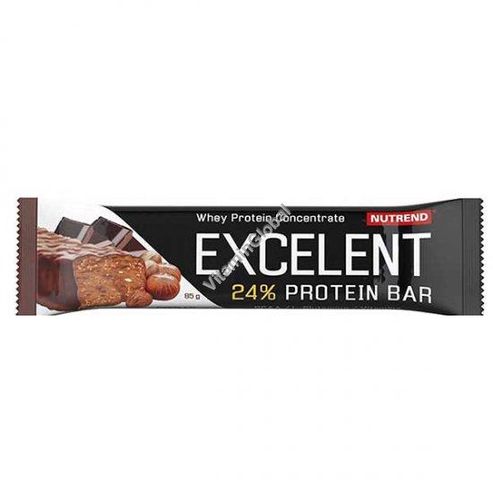 חטיף חלבון בטעם שוקולד עם אגוזים בציפוי שוקולד חלב 85 גרם - נוטרנד
