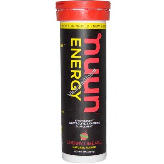 טבליות אלקטרוליטים מכיל קפאין בטעם דובדבן 10 טבליות נמסות - נון אנרג\'