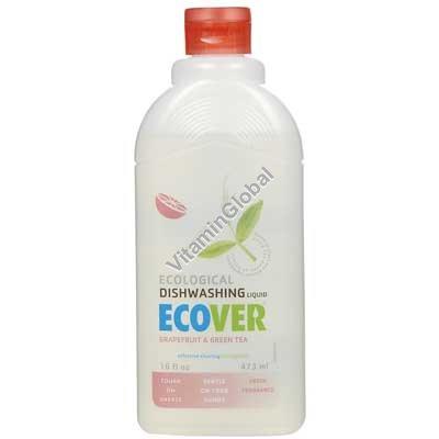 נוזל אקולוגי לניקוי כלים אשכולית ותה ירוק 1 ליטר - אקובר