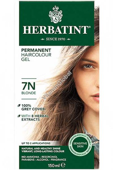 צבע לשיער גוון בלונד (7N) - הרבטינט