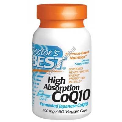 "Q-10 קו-אנזים 400 מ""ג עם ביופרין 60 כמוסות צמחיות - דוקטורס בסט"