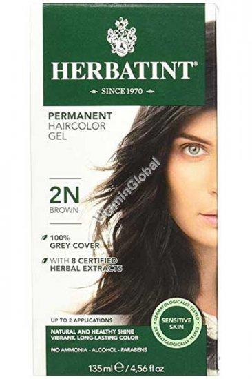 צבע לשיער גוון חום (2N) - הרבטינט