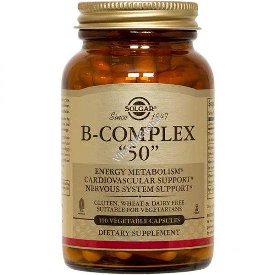 B-50 קומפלקס 100 כמוסות צמחיות - סולגאר