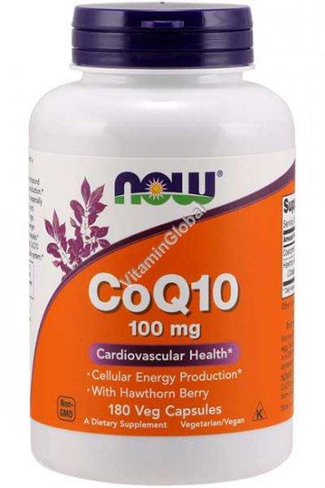 """קו אנזים קיו 10 100 מ""""ג עם עוזרר 400 מ""""ג 180 כמוסות צמחיות - נאו פודס"""