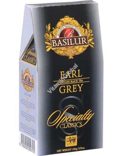 """תה שחור ארל גריי פרסי עם ברגמוט, סדרת """"הקלאסיקה הייחודית"""" 100 גרם - בסילור"""