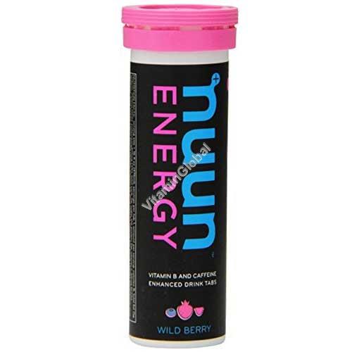 טבליות אלקטרוליטים מכיל קפאין בטעם פירות יער 10 טבליות נמסות - נון אנרג\'