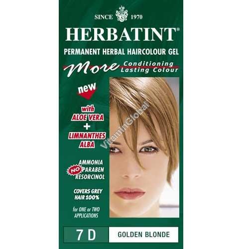 צבע לשיער גוון בלונד מוזהב (7D) - הרבטינט