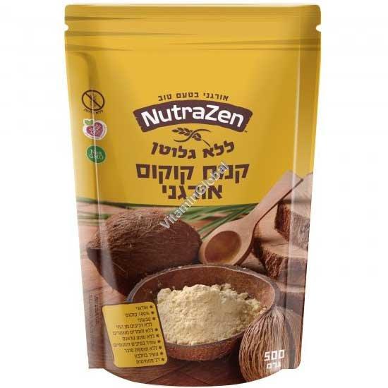 קמח קוקוס אורגני ללא גלוטן 500 גרם - נוטרה זן