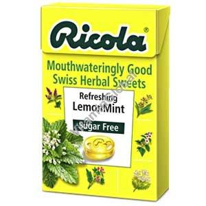סוכריות צמחים קשות ללא סוכר בטעם לימון-מנטה 50 גרם - ריקולה