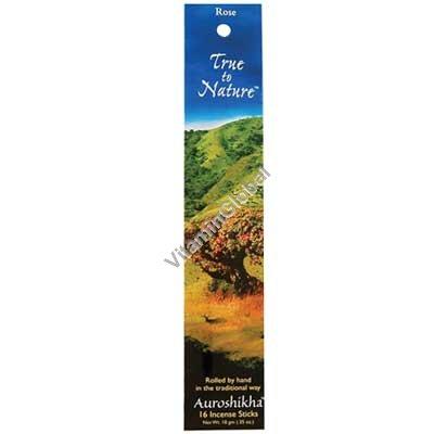 קטורת הודית טבעית ורד 16 יח - אורושיחה
