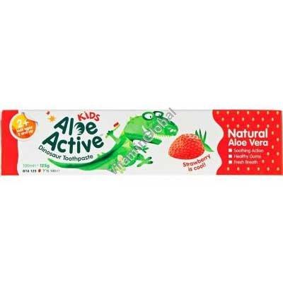 """משחת שיניים לילדים ופעוטות בטעם תות 100 מ""""ל - אלו אקטיב"""
