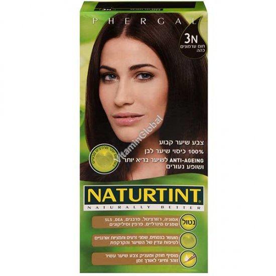 צבע לשיער גוון חום ערמונים כהה 3N - נטורטינט