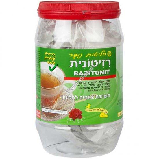 תה רזיטי (רזיטונית) לתחושת שובע ולדיאטה 100 שקיות - נופר