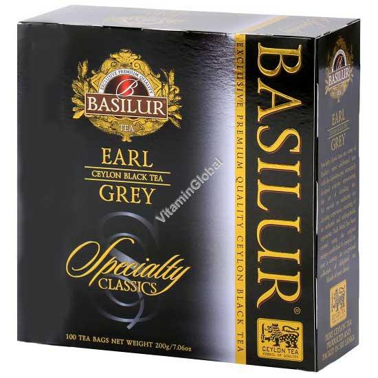 פרימיום תה שחור עם ברגמוט 100 שקיקים - בסילור